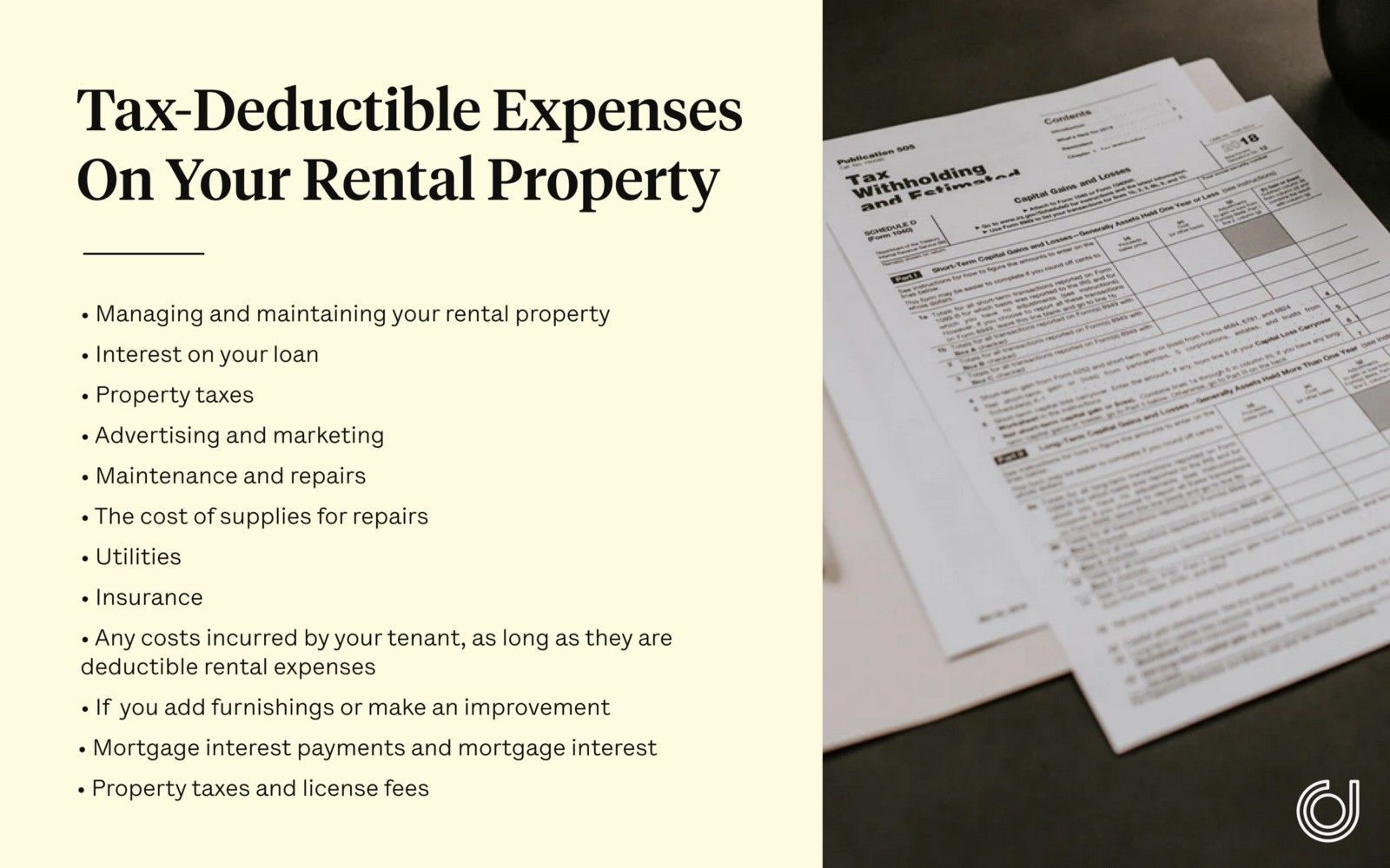 tax deductible expenses on your rental property